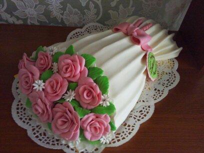 Торты из мастики букеты цветов